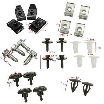 T25 Engine Undertray Cover Clips Bottom Shield Guard Screws For Toyota Avensis @
