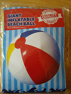 GIANT INFLATABLE BEACH BALL, SALE!!! Diameter 76cms, POOL, GARDEN, BEACH, NEW