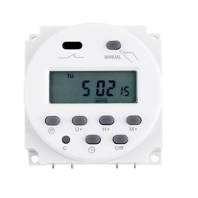 New 12 Volt 16 Amp LCD Display Power Programmable Timer Switch for Light Fans HG
