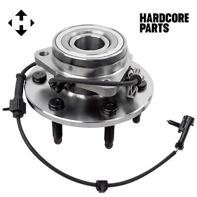 Wheel Hub Bearing Assembly for Chevy GMC Truck 4x4 4WD AWD, Front w/ ABS 6 Lug 5