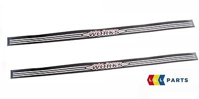 Mini New Genuine Cooper R50 R53 Jcw Logo Door Entry Strip 2 Pcs Set Pair