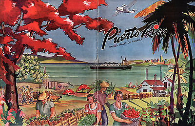 Puerto Rico Institute of Tourism Vintage 1941 Travel Booklet B&W Photos Map