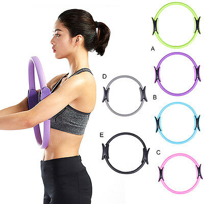 Dual Grip Pilates Ring Magic Circle Body Sport Fitness Exercise Weight Yoga Tool