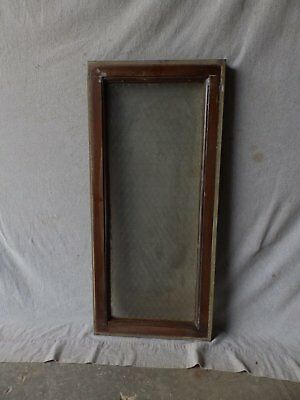 Vintage Industrial Chicken Wire Glass Window Wood and Tin Transom 36X16 160-17P