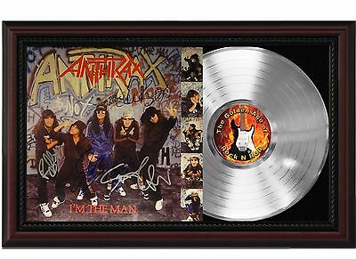 "Anthrax - I'm the Man Platinum Cherrywood Signature Display. ""M4"""