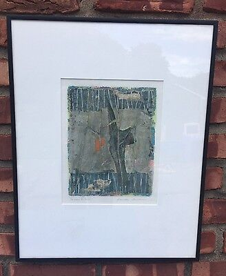 Original Mixed Media Collage by Danielle Desplan, Signed & Titled by Artist