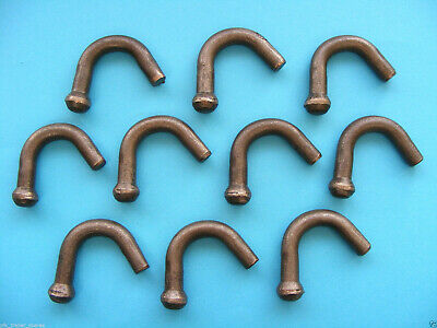 10 x Ball End Rope Hooks Weld On for Trailers & Horsebox Van, Lorry & Pick up #T