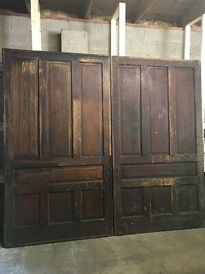 "~ ANTIQUE VICTORIAN POCKET DOORS Wedding Prop 108"" X 97"" ARCHITECTURAL SALVAGE"
