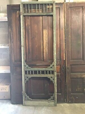 Antique Victorian Wood Screen Door - Architectural Salvage