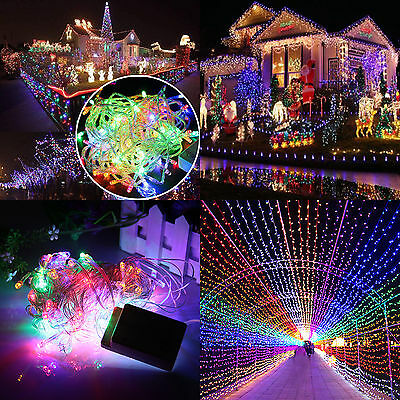 Multi-Color 20M 200 LED Christmas Xmas Fairy String Lights Decor Party Wedding