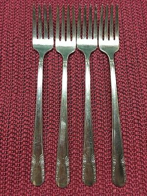 Lot Of 4 Grille Forks 1938 TALISMAN Wm Rogers Silverplate