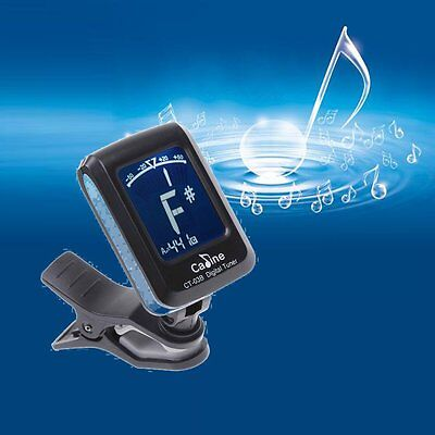 LCD Clip-on Electronic Guitar Tuner Digital Chromatic Bass Violin Ukulele Tuning