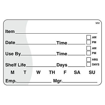 """DayMark IT110342 MoveMark Shelf Life/Use By Removable Label, 2"""" x 3"""" (Roll"""