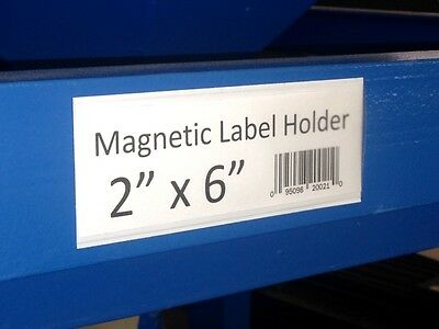 Lytle Magnetic Bin or Shelf Label Holders, 2x6 Inch, pack of 25 - Free Shipping
