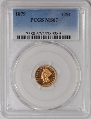 1879 $ Gold Indian MS67 PCGS