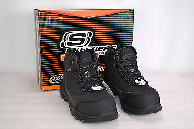 Men's Skecher's Relaxed Fit For Work, Surren, Work Boots with Steel Toe, Black.