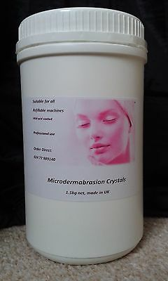 Microdermabrasion crystals, 1.5kg net, Grade A, Professional use, Made in UK