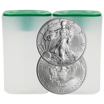 Daily Deal - Lot of 40 - 2017 $1 American Silver Eagle 1 oz BU
