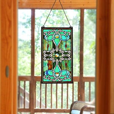 Stained Glass Panel for Window Suncatchers Tiffany-style Decor Victorian Look