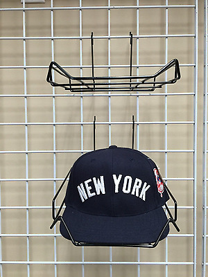Black Wire Cap / Hat Display For Gridwall Sold By The Piece Euc
