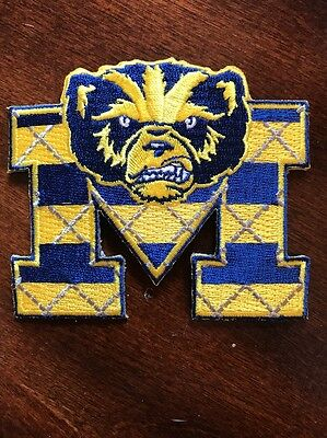 """University Of Michigan Wolverines Vintage Embroidered Iron On Patch 3.5"""" X 3"""""""