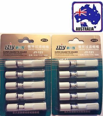 10xReusable Cleaning Type Smoke Cigarette Tar Filter Reusable Cigarette Holder