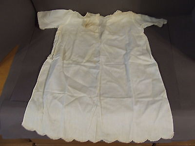 Antique Cotton Christening Gown Dress W/ History Tag