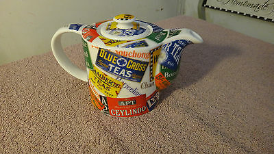 "2008 Paul Cardew ""World Tea"" Ceramic Teapot S/S Single Serve 2 Cup"