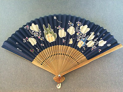Japanese Fabric Folding Fan with Totoro