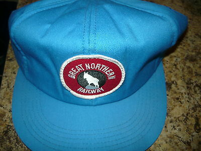 RAILROAD HAT CAP BLue GREAT NORTHERN LARGE PATCH