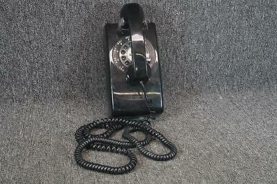 Western Electric Wall Mount Rotary Telephone Model 554BMP Black