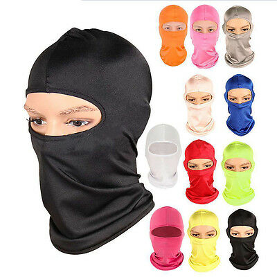 Outdoor Ski Cycling Balaclava Full Face Mask Neck Ultra Thin Protect Eyeful