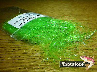 Chartreuse Ripple Ice Fiber - New Hareline Dubbin Fly Tying Materials