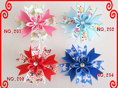 "20 Good Girl Baby 4.5"" Butterfly Fairy Wing Hair Bow Clip Spring Easter 208 No."