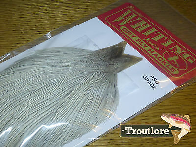Whiting Farms Dry Fly Cape Natural Dun Whole New Pro Grade Flytying Neck Feather