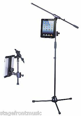 XTREME ADJUSTABLE UNIVERSAL iPAD/TABLET HOLDER FOR MIC & MUSIC STANDS - AP23