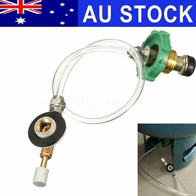 AU Outdoor Camping Propane Gas Refill Adapter Flat Cylinder Tank Coupler Valve
