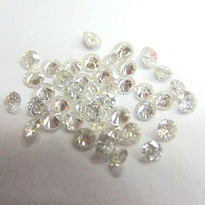 34.73 ct 42(pcs) K-L Round Cut Genuine Loose Moissanite Lot For Jewelry