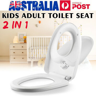 Family Toilet Seat 2 in 1 For Kids Child Toddler Adult Potty Train Chair Cover