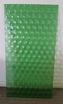"Retro original 1970s green ""bottle  bottom"" glass panel"