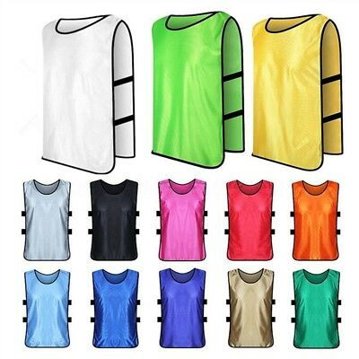10Pcs/Lot Kids/Adult Running Soccer Vest Training Bibs Football Basketball Sport