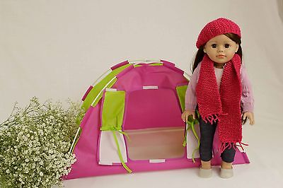 "Modern Doll Camping Tent - Toy American Girl Our Generation 18"" Doll"