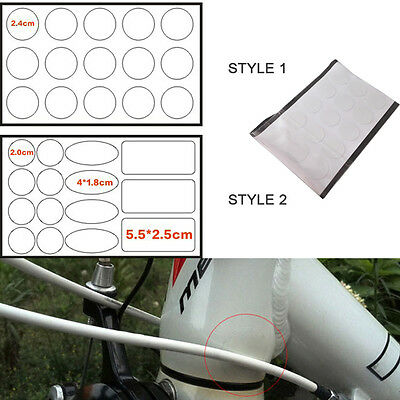 New 15pcs Bicycle Frame Protector Stickers Bike Cable Sticker For Mountain Bike