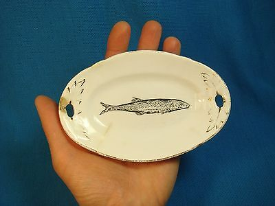 Old Russian Empire Porcelain Small Fish Tray Kuznetsov Kuznetsova Dreylingsbusch
