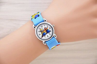 Minions Quartz Watch  with stainless steel back - kids