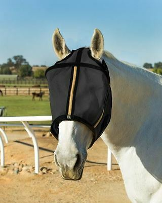 Noble Outfitters Guardsman Fly Mask No Ears Gold/ Black Size S-XXL BAT-12388P