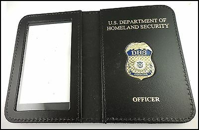 DHS Officer Mini Badge ID Case w/ DHS and Officer Embossing