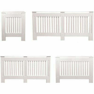 Chelsea Radiator Cover Modern White Cabinet MDF Slats Wood Grill Furniture
