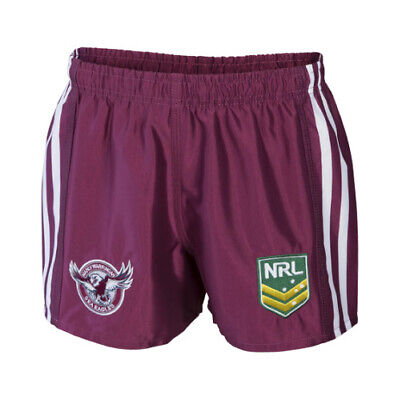 Manly Sea Eagles NRL 2018 Away Supporters Shorts Adults & Kids Sizes!