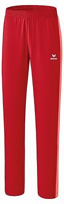 Erima Womens Ladies Tennis Presentation Pants Trousers Tracksuit Bottoms Red ...